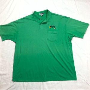 Vintage 90's John Deere Green Polo Jerzees Tee